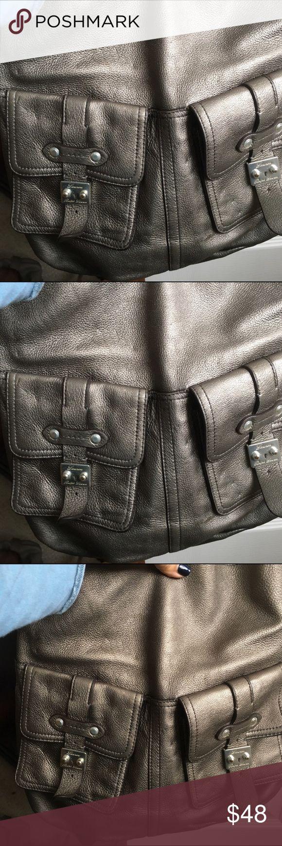 Ralph Lauren silver shoulder bag Nice shoulder bag in neutral silver color. Two pockets outside.   Love this bag Ralph Lauren Bags Shoulder Bags