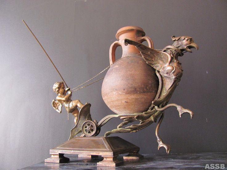 """""""АНТИКА"""" ,современная скульптура,бронза,античный сосуд.."""