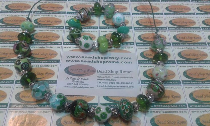 Millefiori beads Murrine beads by Rankoussi , BEAD SHOP ROME ®  ,Via Sora 30/31 Roma.