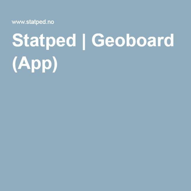 Statped | Geoboard (App)