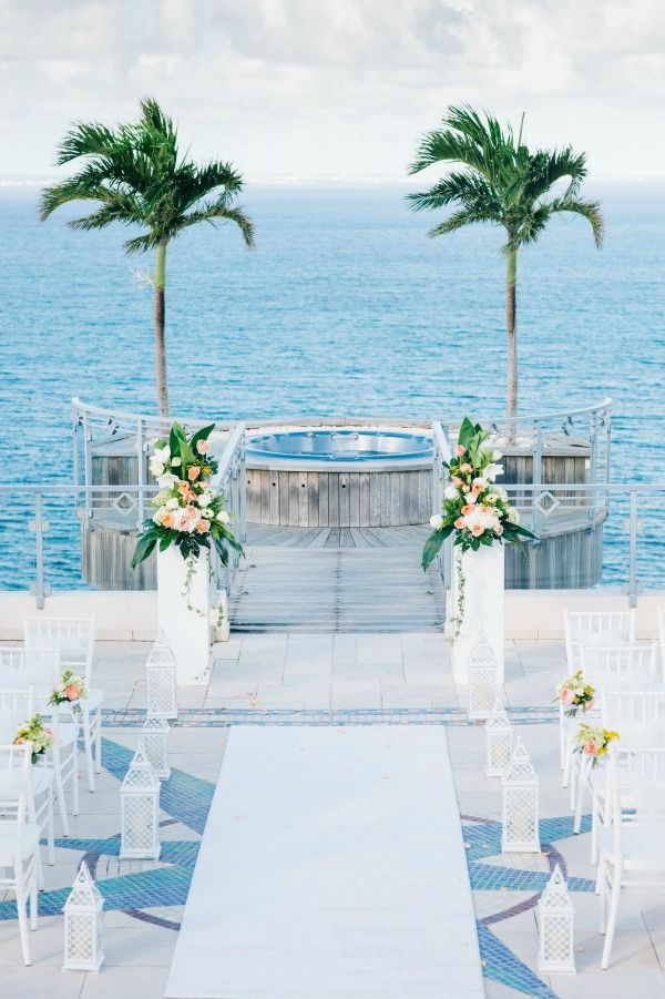 Tropical Wedding Aisle In St Martin Via Bajan Wed Beach Seaside Oceanside 2018 Pinterest