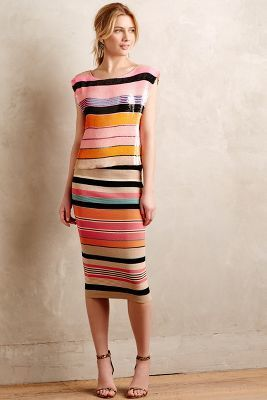 Tracy Reese Beaded Stripe Shell
