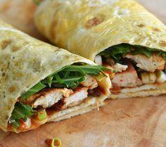 Koolhydraatarme recepten - omeletwraps met kip
