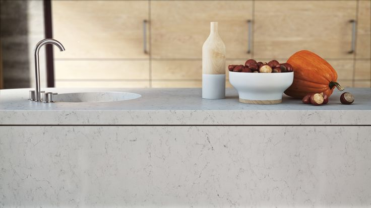 Frosty carrina quartz countertops above image from for Cost of caesarstone countertops