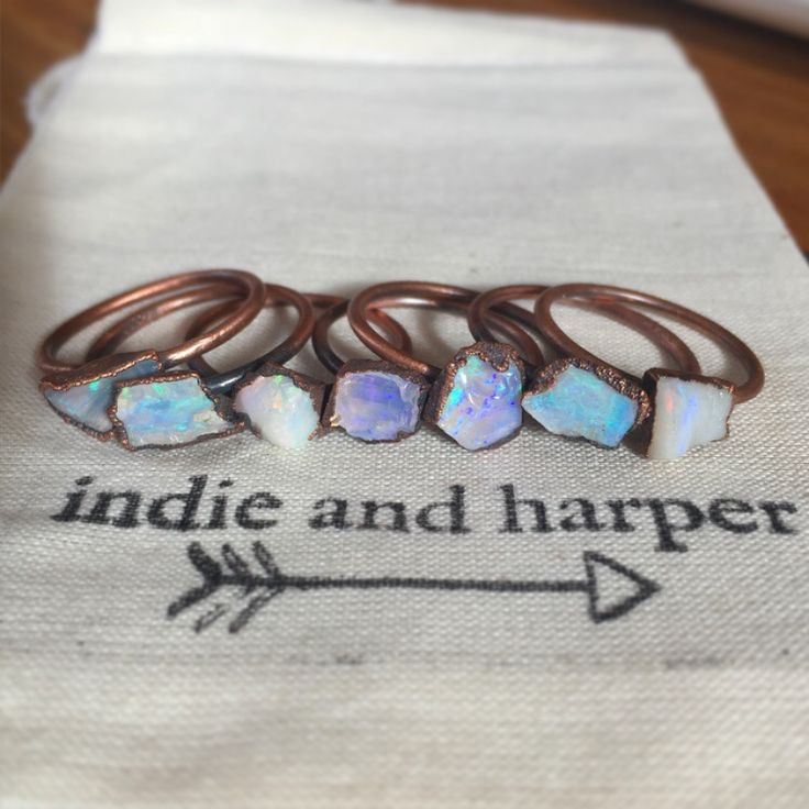 Australian Opal and Copper Ring by Indie & Harper