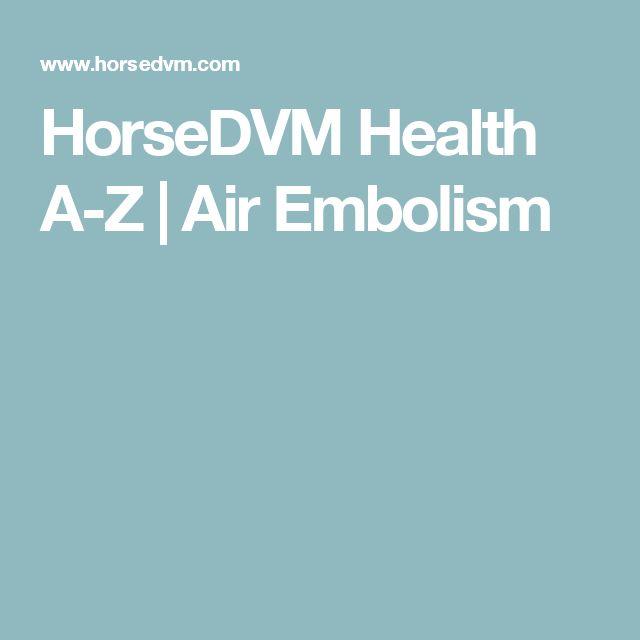 HorseDVM Health A-Z | Air Embolism