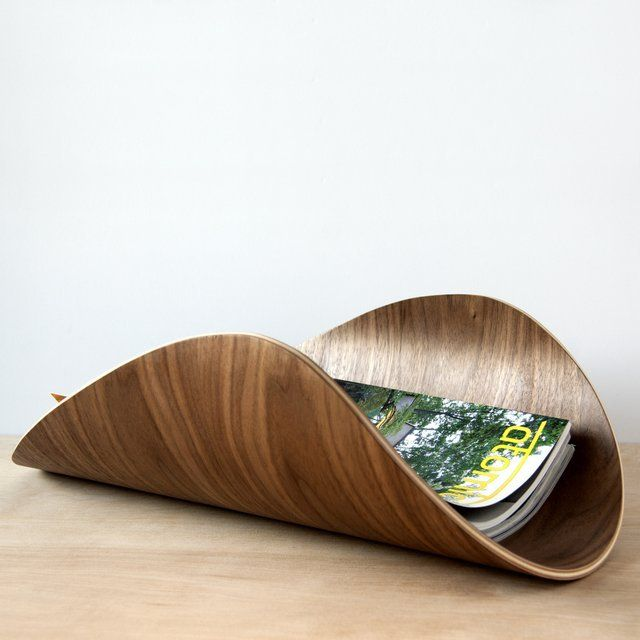 The Aspen Bent Plywood Magazine Rack