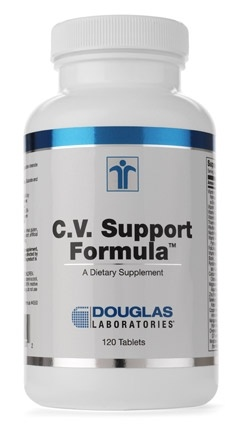 Douglas Laboratories C.V. Support Formula   is a synergistic and comprehensive combination of vitamins, minerals, enzymes, herbals, and other nutrients, carefully formulated and specifically designed to support the healthy structure and function of the cardiovascular system.