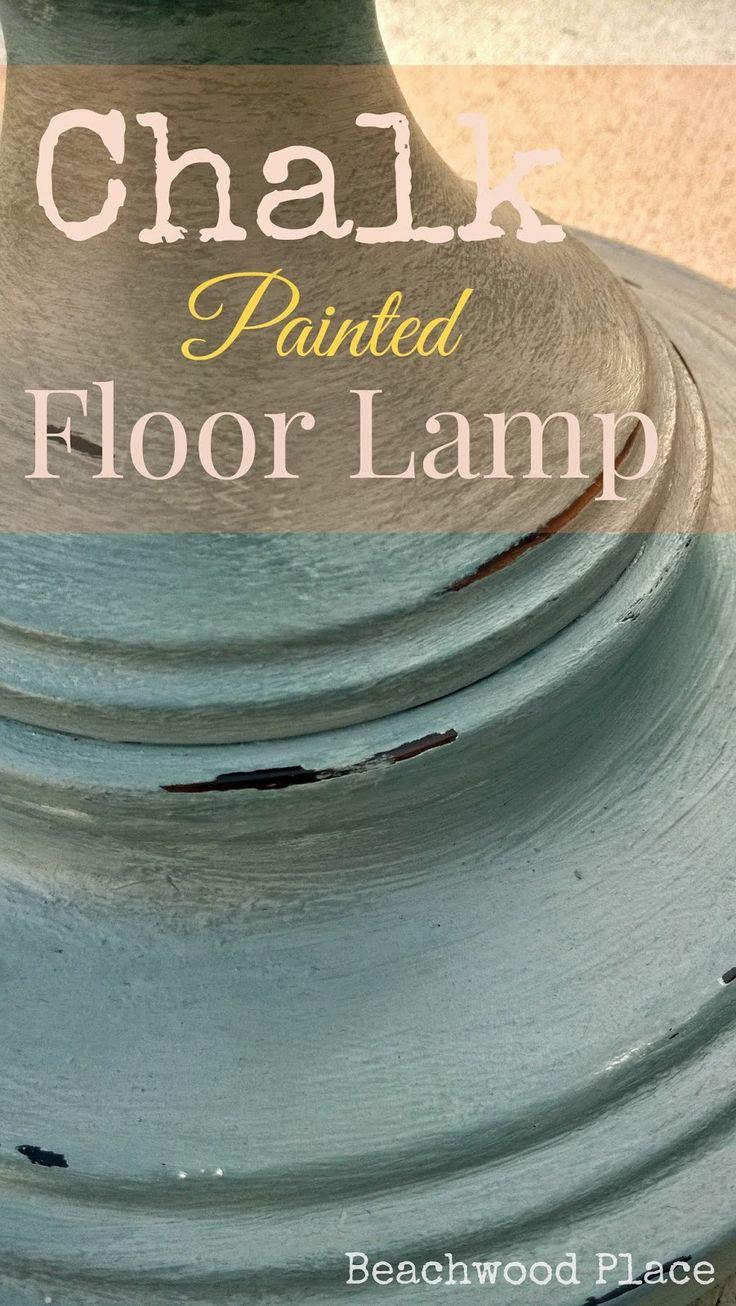 Beachwood Place: Chalk Painted Floor Lamp