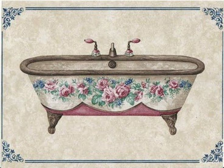 Laminas Baño Vintage:Laminas Decoupage Para Mis Bathroom