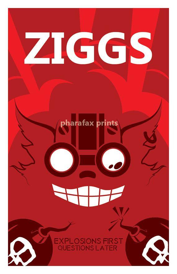 Ziggs: League of Legends Print por pharafax en Etsy