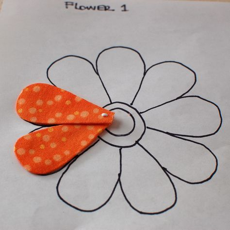 Appliqué tutorial with freezer paper and starch at one piece at a time