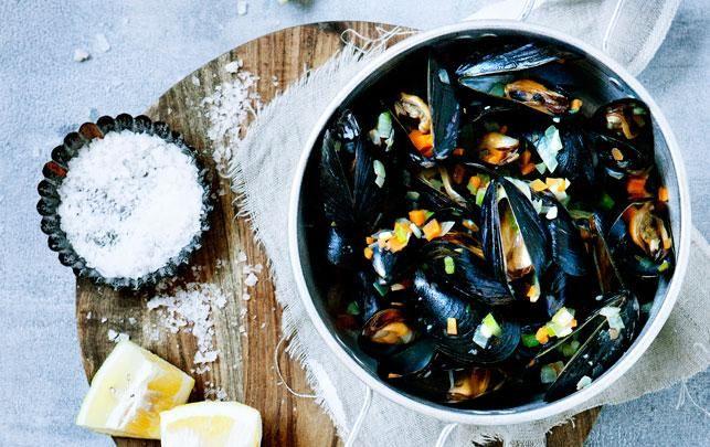 Moules frites – muslinger med ovnfritter