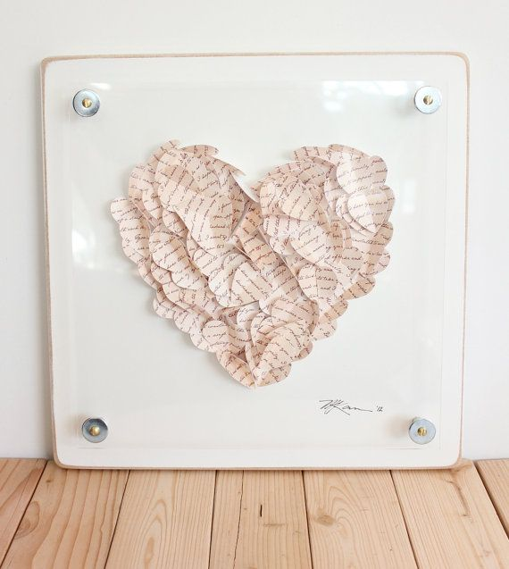 unique wedding gift words of advise 12 x 12 3d love hearts bride