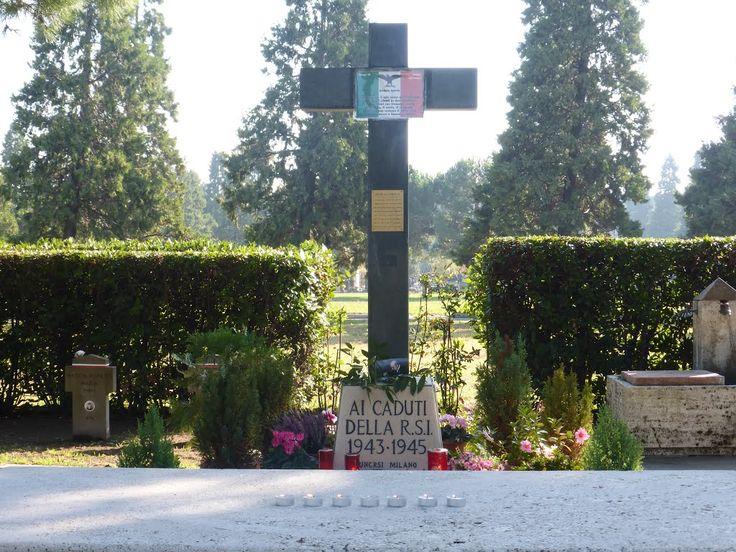 CADUTI DELLA REPUBBLICA SOCIALE ITALIANA 1943-1945 - CIMITERO MAGGIORE, CAMPO X, CAMPO DELL'ONORE MILANO