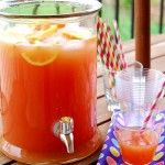 With all graduation and Memorial Day weekend festivities coming up, it occurred to me that I've never shared my favorite punch-to-serve-a-crowd. I love this. My kids love this. My husband loves this. My girlfriends really love this with a splash of vodka.