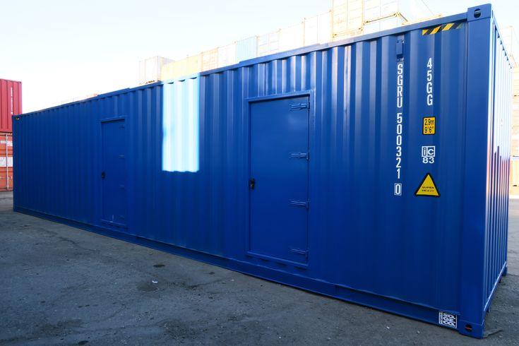 Sogeco International SA. Container 40' HC con porte costruite in carpenteria metallica. Dedicato ad officina motorsport