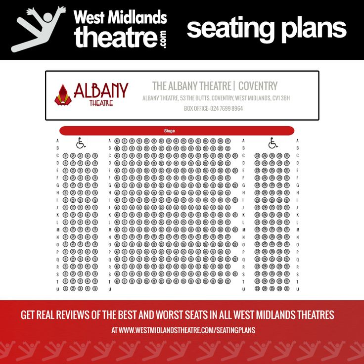 West Midlands Theatre Seating Plan For Albany Coventry
