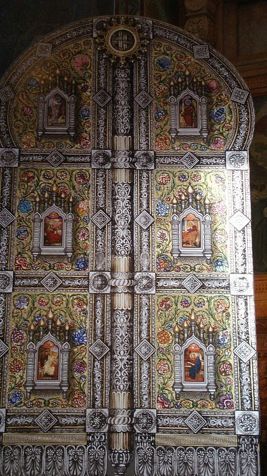 A door on the Cathedral of the Resurrection, St. Petersburg - Russia
