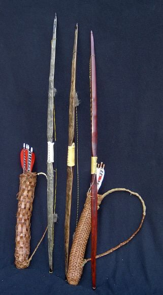 pretty longbow, and quivers