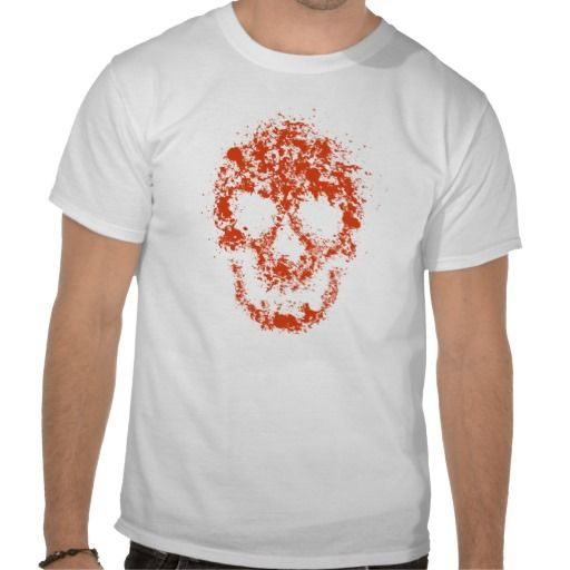 Splash skull tee shirt