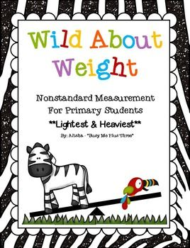 This is a great 151 page set of weight activities for any math center or classroom! This set uses non-standard weight measurement using a balance.  For example, lightest & heaviest, what is lighter/heavier, about the same weight as, and how many cubes/bears something weighs.