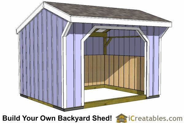 12x12 Run In Horse Barn Shed Plans 12x12shedplan Shed With Loft Run In Shed 10x12 Shed Plans