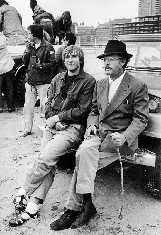 Gerard Depardieu and Marcello Mastroianni