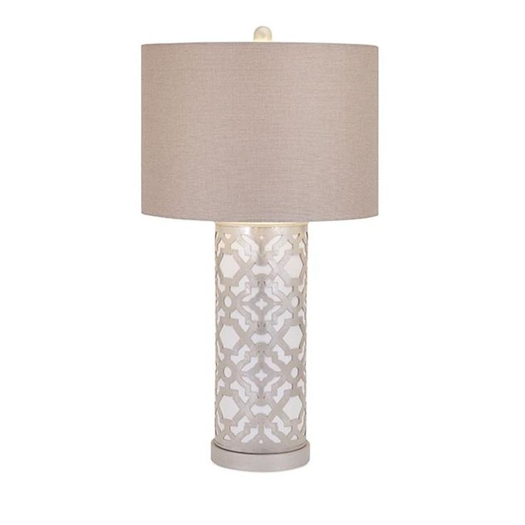 raised patterned table lamp - Modern Table Lamp