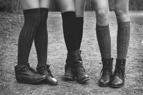 : Best Friends, Style, Knee High Boots, Ankle Boots, Long Socks, Knee Socks, Dirt Roads, Kneehigh, Knee High Socks