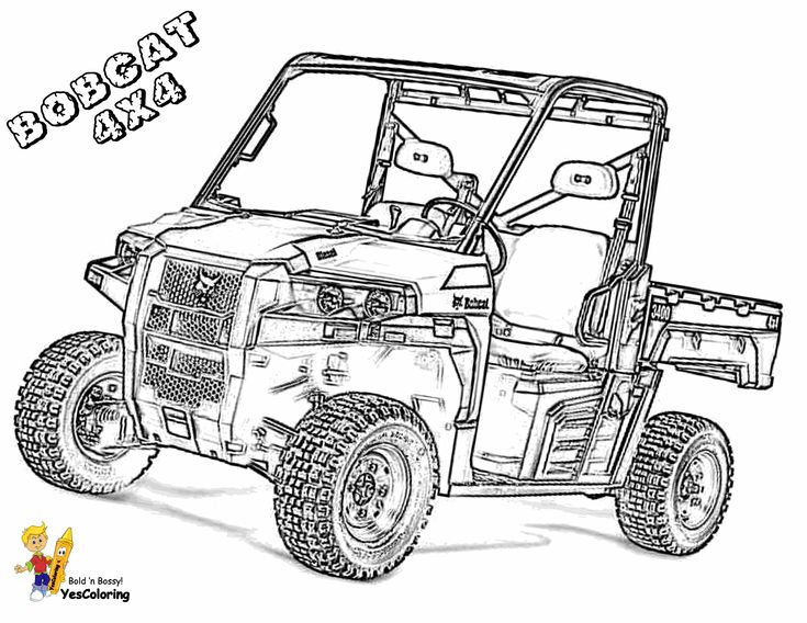Print Out This Macho Construction Coloring Pages Of Tractors Bobcat Sho Nuff Tell Other C Tractor Coloring Pages Coloring Pages Butterfly Coloring Page