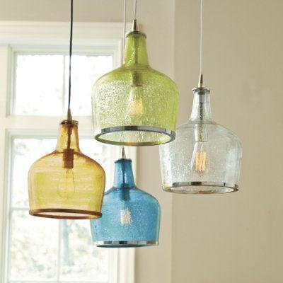 Pendant lighting. Stunning - over a kitchen island or in a bathroom. #ballarddesigns