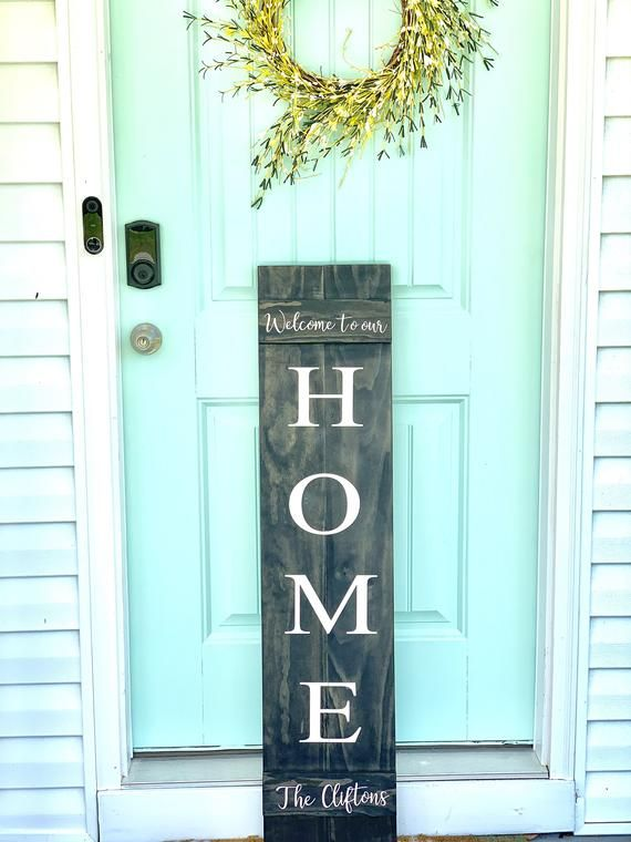 Custom Front Porch Sign Welcome To Our Home Housewarming Gift Family Welcome Sign Custom Front Porch Signs Porch Signs Painted Front Porches
