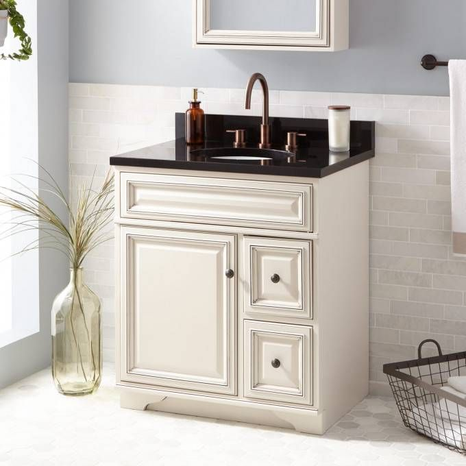 Narrow Depth Vanities Signature Hardware Antique Bathroom
