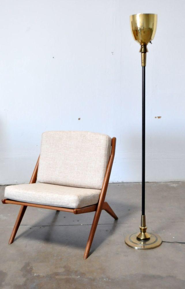 Stiffel Vtg Mid Century Modern Hollywood Regency Brass