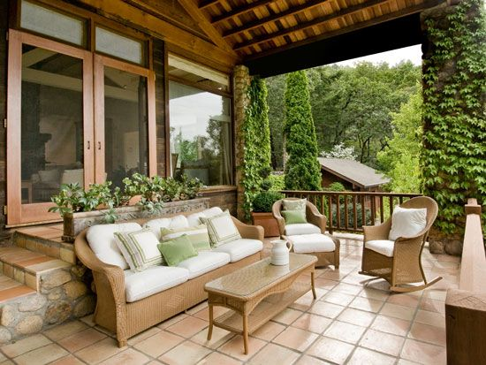 Best Decorating A Back Porch Images On Pinterest Terraces