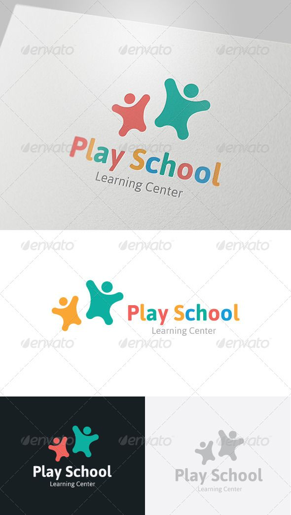 Play School Logo  #GraphicRiver         This logo design for all creative business. Consulting, Excellent logo,simple and unique concept.  Logo Template Features   AI and EPS (Illustrator 10 EPS) 300PPI  CMYK  100% Scalable Vector Files  Easy to edit color / text  Ready to print  Font information at the help file   	 If you buy and like this logo, please remember to rate it. Thanks!