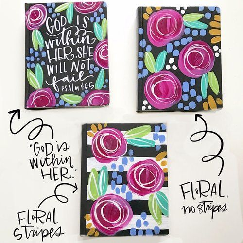 Floral journaling bible. Hand painted bible. Painted bible cover.