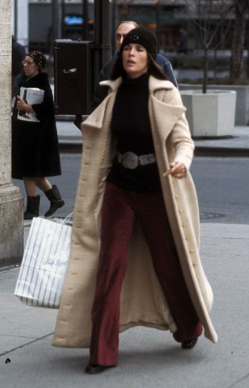 Ali MacGraw shopping in NYC - 1970 -- Remember this vintage of the Maxi Coat? How about that hat she made popular too!