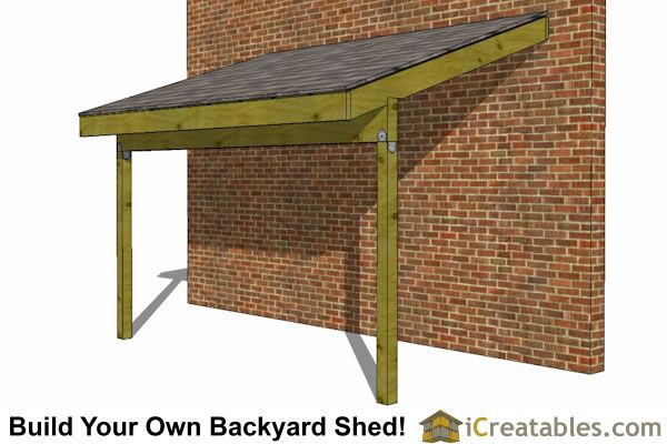 Tarp Lean To Off House 6x12 Lean To Shed Plans Open
