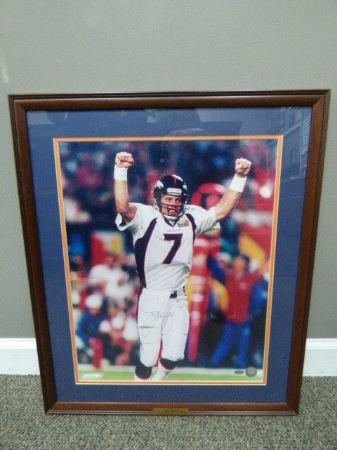 John Elway Print Signed Framed Broncos All Things Nfl Broncos