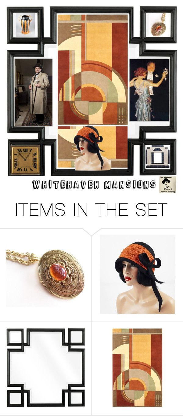 """""""Art Deco: Famous Address"""" by muskrosevintage ❤ liked on Polyvore featuring art"""