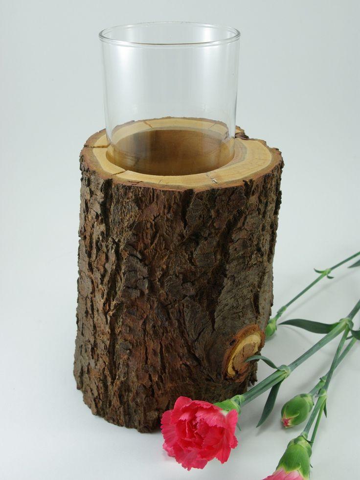 drewniany wazon