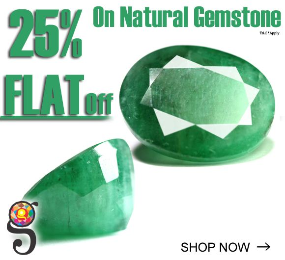 Emerald Stone ('Panna Stone' in Hindi) is a beautiful green shade to colorless gemstone variety of the mineral Beryl. Panna Stone is gemstone with a Mohs index of 7.5-8 and specific gravity average 2.76. It is mined in India , Columbia (Columbian), Zambia (Zambian) and a few other countrie