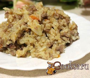 Рис с фаршем и цветной капустой