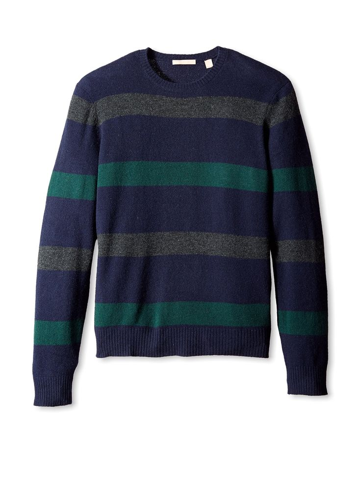 nice Cashmere Addiction Men's Wide Stripe Crew Neck Sweater Look more best fashion here >> http://fashionbestprice.com/men/men-shoes/cashmere-addiction-mens-wide-stripe-crew-neck-sweater/