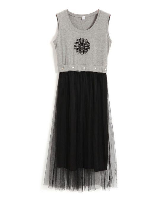 Sunflower Print Sleeveless Tank Dress