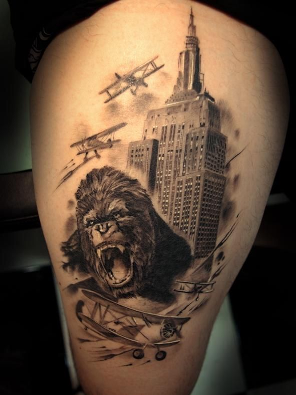 41 best images about king kong tattoos on pinterest animal tattoos photos and ink tattoos. Black Bedroom Furniture Sets. Home Design Ideas