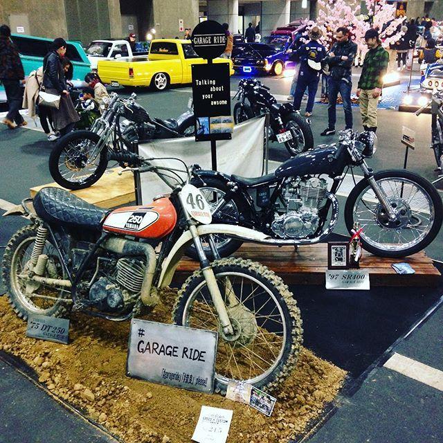 うちのブース!! #garageride #ガレージライド #SR400 #motorcycles #vmx #dt250 #奈良 #バイク#カスタムバイク #speedandcustomshow #スピード&カスタムショー #スピカス