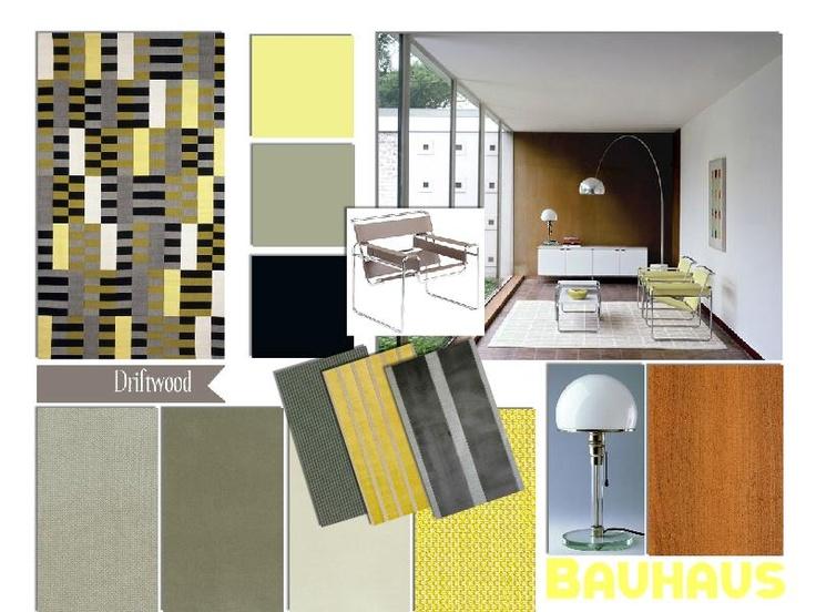 Bauhaus Interior sample board | Design, Plancher, Inspiration
